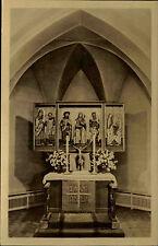 LEIPZIG DDR OT Leutzsch Hand-Foto-AK Altar Kirche s/w Postkarte um 1955 ungel.
