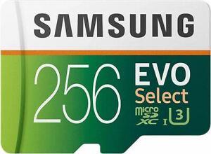 Samsung Electronics EVO Select 256GB MicroSDXC UHS-I U3 100MB/s Full HD & 4K UHD