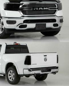 Fits 19-21 Ram 1500 GTS Smoke Headlight Fog Light Taillight 6pc Cover Set NEW