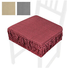 Cuscino sedia sfoderabile cotone lavabile fascia elastica coprisedia cucina pois