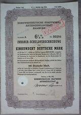 Acción, noroeste alemana centrales AG, Hamburgo 1950, (art.3202)