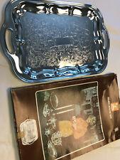1971 Chrome Plated Irvinware Oblong Serving Tray W/ Original Box