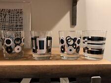 New Listing4 Ikea Godis Black White GeometrIc Low Ball Rocks Glasses Barware Henrik Preutz