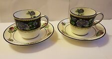 Pair of Cups & Saucers Brown Westheads  For Tiffany & Co New York - early 20th