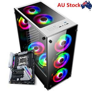 PC Case Gaming Tower Computer Case Audio RGB Full ATX 397*197*423mm AU