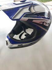 Fox Racing Blue/Grey/WhiteHelmet Adult Dirt Bike Offroad MX MotorcycleATV Size L