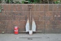 galvanized boat anchor ship nautical 49 cm /1.8 kg - danforth style FREE POSTAGE