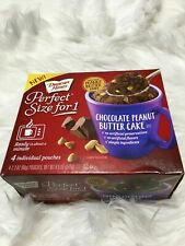 Duncan Hines chocolate peanut butter mug cake mix 4 individual pouches 9.5oz bsh