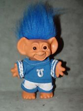 "Troll Doll 5"" Uneeda Good Luck Football Dallas Cowboys Blue and White Horse Shoe"
