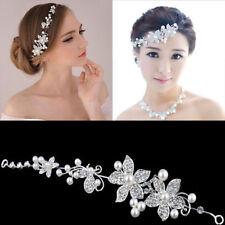Wedding Party Bride Headdress Crystal Head Wear Pearl Hairpins Hairband