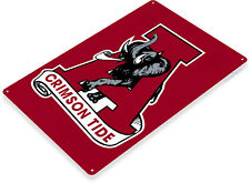 TIN SIGN Alabama Crimson Tide Metal Décor Art Mascot Sports Store Bar A204