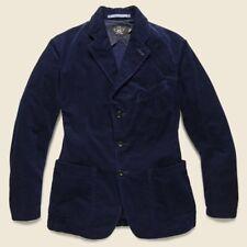 $690 RRL Ralph Lauren Japanese Indigo Corduroy Sport Coat Jacket- MEN- XL