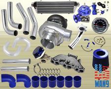 Volkswagen Golf Jetta Vr6 T04E Turbocharger Turbo Kit Blue+Manifold+Bov+Wg+Gauge