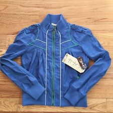NEW O'Neill Womens Sz Medium Blue Full Zip Breaker Lightweight Jacket Coat NWT