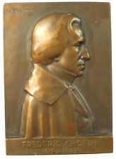 France music FREDERIC CHOPIN COMPOSER by Masseau bronze 49mm x 69mm