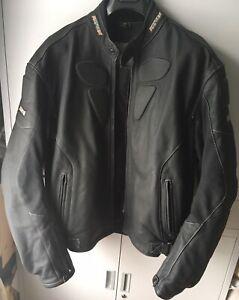 Rayven Nemesis Motorcycle Leather Jacket EU 52