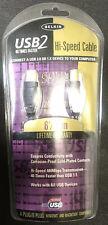 Belkin USB2 24K Gold Plated  A-B Plug Win/MAC Compatible Cable F3U133-06 LocEB76