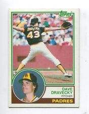 1983 Topps #384 Dave Dravecky San Diego Padres Rookie