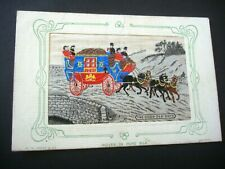 More details for embroidered silk postcard - w.h.grant - the good old days - woven in silk.
