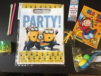 5 Item Minions Pre Filled Goody Bag, Ready Made Birthday Party Loot Favours
