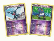 RARE TOXICROAK & CROAGUNK -2 EVO Boundaries Crossed Pokemon Card -REV HOLO- MINT