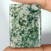 100% NATURAL Green Moss Agate Transparent Oval Cabochon Loose Gamstone DFG3252