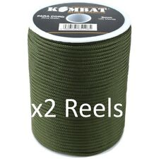 Bobina con Paracord Kombat UK Unisex 100 M Verde oliva Artigianato e Bricolage