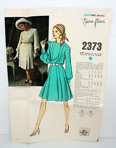 Vtg Vogue Paris Original Dress Pattern 2373 NINA RICCI Size 12 Uncut FF No Env
