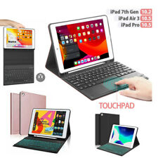 For iPad 7th Gen Bluetooth Keyboard Case with Pencil Holder/ Touchpad/ Backlight