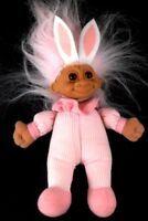 "RUSS Soft Body Troll Doll Pink Hair 8"" with Pink Outfit & White Bunny Ears"