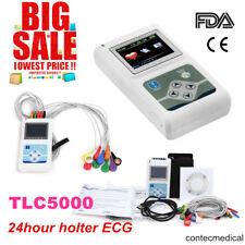 CE&FDA CONTEC TLC5000 Record 12-Lead Holter ECG 24hour Monitor Sync PC Software