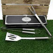 Personalised BBQ Utensil Set Engraved Dad Gift Fathers Day