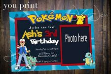 Pokemon Party Invitation (You Print)