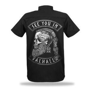 SEE YOU VALHALLA Worker Shirt Wikinger Norse Vikings Ragnar Odin Celtic Hemd