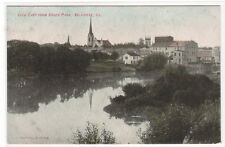 Panorama East from Roses Park Belvidere Illinois 1910c postcard