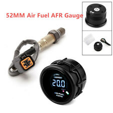 2'' Car Air Fuel Ratio Gauge Digital O2 Oxygen Sensor Rear 52MM 12V Gas Oil