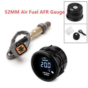 2'' Car Air Fuel Ratio Gauge Digital O2 Oxygen Sensor Rear 52MM 12V Gas Oil