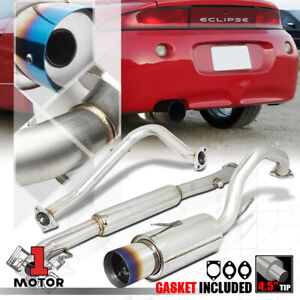 "4.5"" Burnt Tip Muffler Catback Exhaust System for 95-99 Talon/Eclipse non-Turbo"