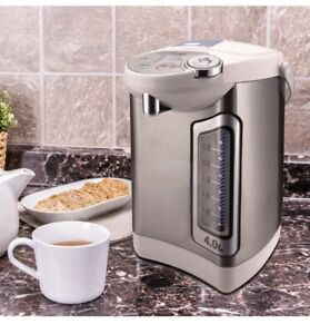 Hot Water Boiler Warmer Dispenser 4 Qt Stainless Steel Auto Electric Pump White
