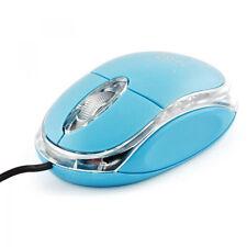 Mouse Ottico Con Filo Usb 3.0 Con Led Azzurro Pc Notebook hsb