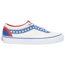 Vans BOLD NI Americana Leather Sneakers Stars NEW Evel Knievel Style White/Blue