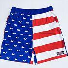 Vineyard Vines Patriotic Swim Trunks Shorts Boys Size 16 (LARGE) Flag