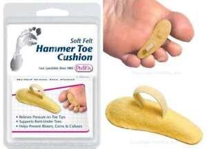 PEDIFIX Hammer Toe Cushion Crest Support Soft Felt Claw Mallet Toe Pain P54 -1-