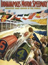 ADVERT RACE SPORT INDIANAPOLIS MOTOR SPEEDWAY ART POSTER PRINT LV244