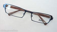 Zen blaue Brillenfassung Metall Kunststoffbügel braun Herren markant neu size L