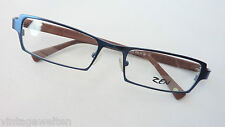 Zen blaue Brillenfassung GR.L Metall Kunststoffbügel braun Herren markant betont