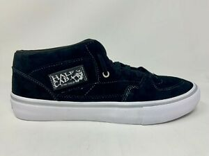 VANS 25th Anniversary Half Cab Pro Skateboard Shoes Mens Size 10.5 Black Silver