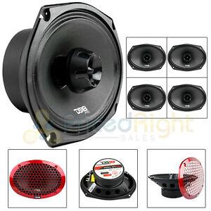"4 Pack 6x9"" Midrange Speakers Built In Tweeter 550 Watts Max 4 ohm DS18 PRO-ZT69"
