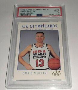 1992 Impel Olympicards #14 Chris Mullin PSA 9 Mint Dream Team USA Pop 19