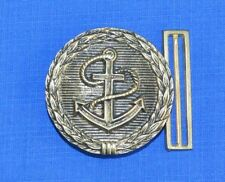 Bulgarian Army NAVY Marines CLASP Brass BUCKLE for Officer's Parade Belt Anchor